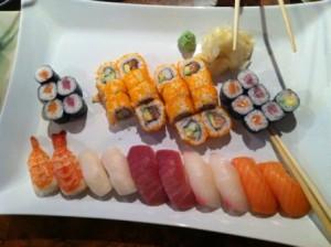 sushi bij Fuku Sushi