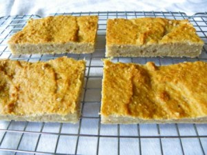 glutenvrije bananen appel blondies (3)