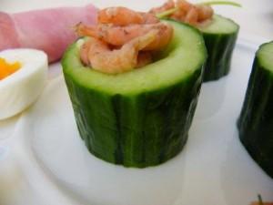 komkommer met garnaal