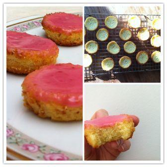 Glutenvrije roze koek