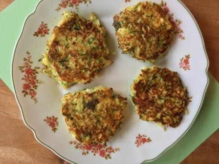 glutenvrije griekse courgettekoekjes (2)