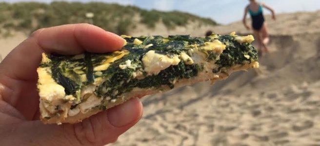 Snelle glutenvrije spinazietaart