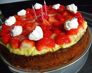 glutenvrije aardbeien taart