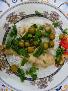Marokkaanse kip met groene olijven en gekonfijte citroen
