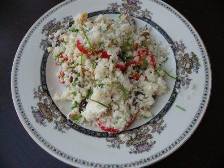 glutenvrije couscous van bloemkool