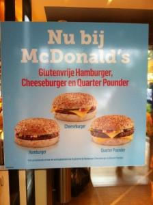 Glutenvrije hamburger MacDonalds (1)