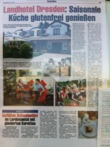Artikel over Landhotel Dresden