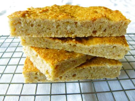 glutenvrije bananen appel blondies (4)