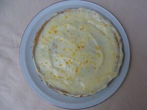 pompoen cheescake met mandarijn topping