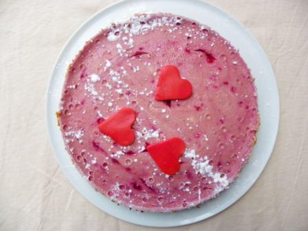 Glutenvrije cheesecake met frambozen