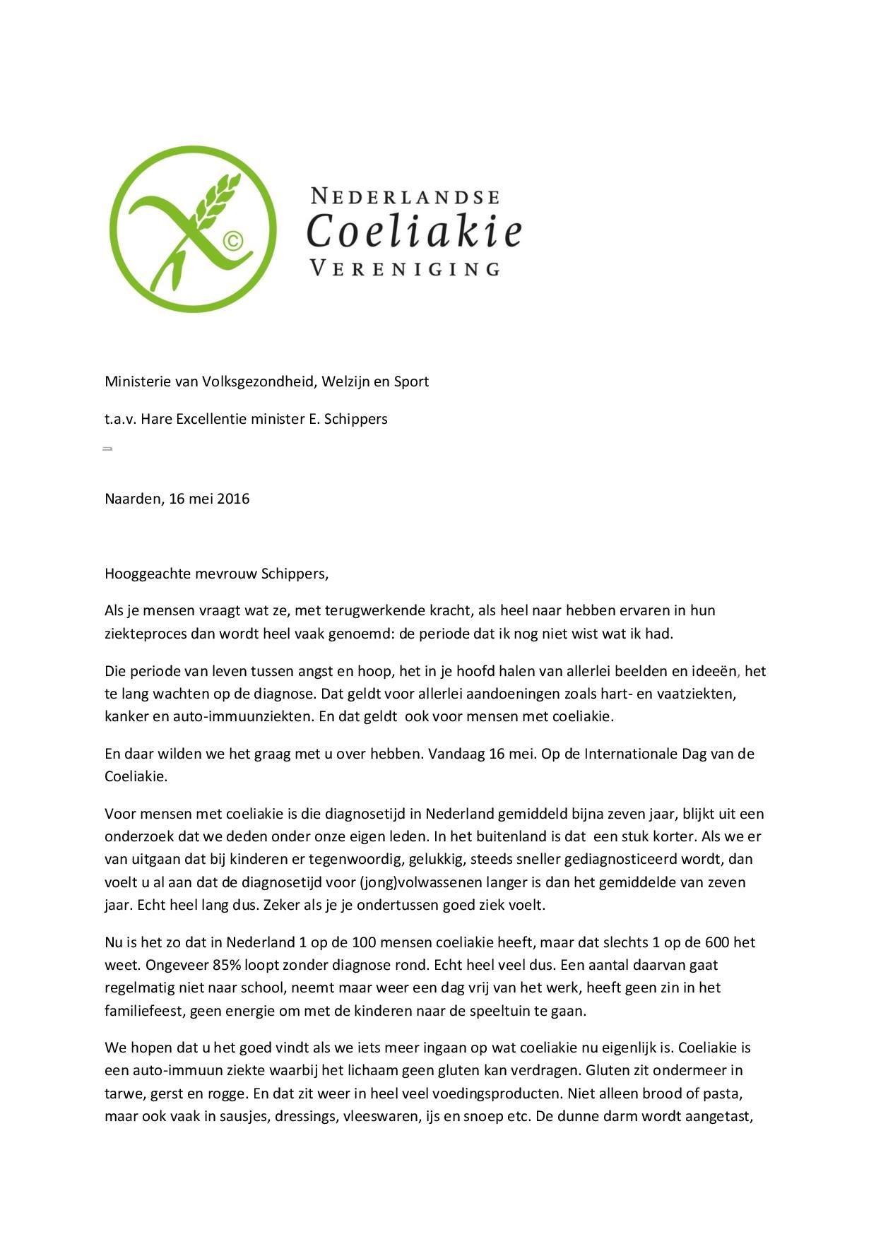 Open-brief-Minister-Schippers-Internationale-Dag-van-de-Coeliakie-page-001