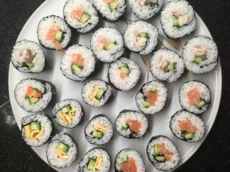 sushi makreel en ei