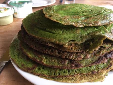 Glutenvrije spinaziepannenkoek