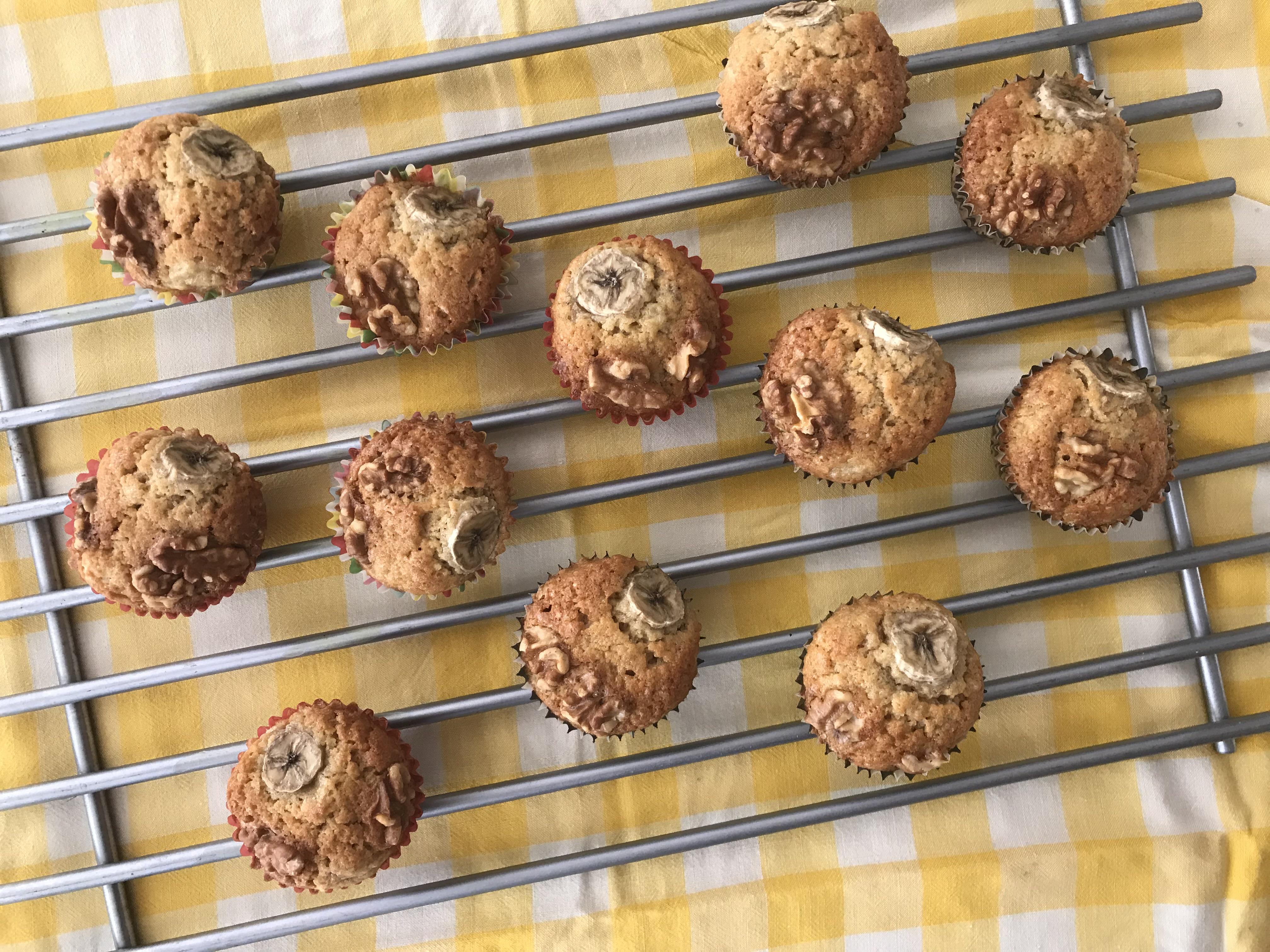 glutenvrije banaanmuffin met walnoot